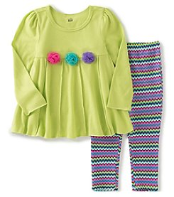 Kids Headquarters® Girls' 2T-6X 2-Piece Rosette Tunic And Leggings Set