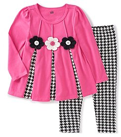 Kids Headquarters® Girls' 2T-6X 2-Piece Daisy Tunic And Leggings Set