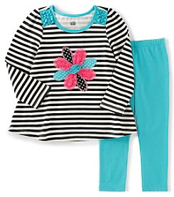Kids Headquarters® Girls' 2T-6X 2-Piece Flower Tunic And Leggings Set