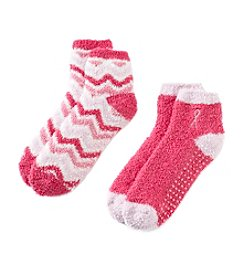 Jasmine Rose® Fuzzy Socks With Grippers
