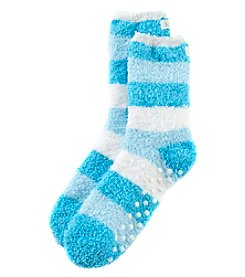 KN Karen Neuburger Stripped Slipper Socks With Grippers