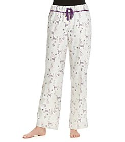 Relativity® Printed Flannel Pajama Pants