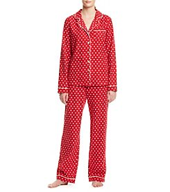 Intimate Essentials® Flannel Notch Collar Pajama Set