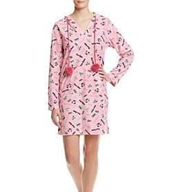 Zoe&Bella @BT Printed Pink Cat Fleece Lounger