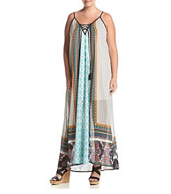 Skylar & Jade™ Plus Size Printed Maxi Dress With Tassels