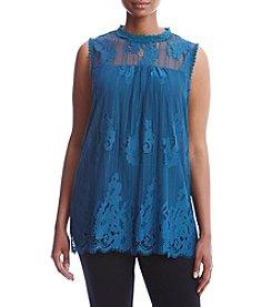 Skylar & Jade™ Plus Size Scallop Lace Tank