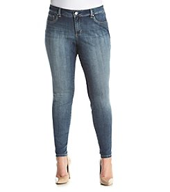 Jessica Simpson Plus Size Medium Wash Kiss Me Super Skinny Jeans