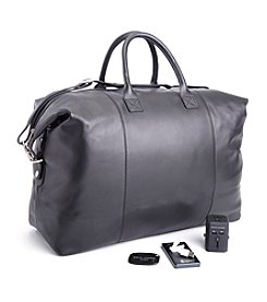 Royce® Leather Luxury Travel Expandable Duffel Bag Travel Set