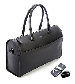 Royce® Leather RFID Blocking Saffiano Leather Barrel Bag