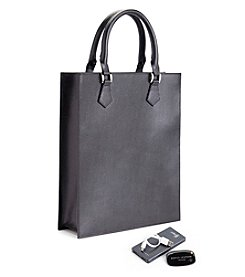 Royce® Leather RFID Blocking Saffiano Leather Slim Tote