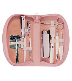 Royce® Leather Travel Cosmetic Grooming Set