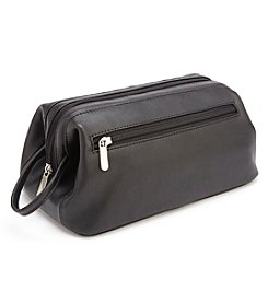 Royce® Leather Colombian Leather Toiletry Travel Wash Bag