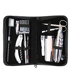 Royce® Leather Executive Travel and Grooming Toiletry Kit