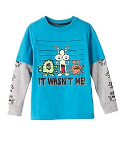 Mix & Match Boys' 2T-4T Layered Monster Line-Up Skater Tee