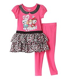 Nickelodeon® Girls' 2T-4T 2-Piece Paw Patrol Pup Power! Dress And Leggings Set