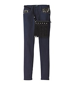 Squeeze® Girls' 7-16 Bling Pocket Skinny Jeans With Fringe Purse