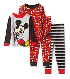 Disney® Boys' 2T-4T 4-Piece Mickey Mouse® Pajama Set