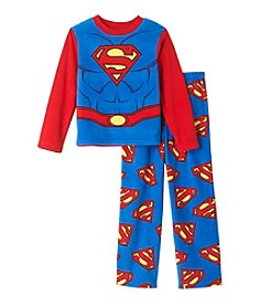 Warner Bros. Boys' 4-10 2-Piece Superman Pajama Set