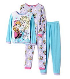 Disney® Girls' 4-10 4-Piece Frozen Moment Pajama Set