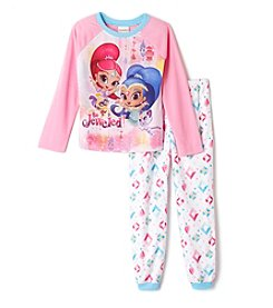 Nickelodeon® Girls' 4-10 2-Piece Shimmer & Shine Always Pajama Set