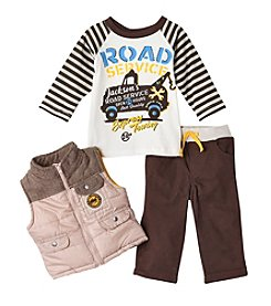 Nannette® Baby Boys 3-Piece Vest And Pants Set