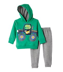 Nannette® Baby Boys 2-Piece My Ride Hoodie And Joggers Set