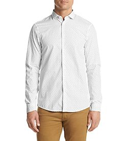 Michael Kors® Men's Slim Fit Cross Print Long Sleeve Button Down Shirt