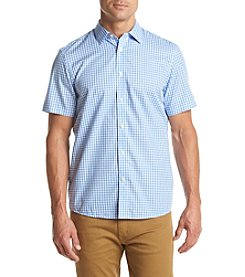Michael Kors® Men's Tailored Fit Aric Gingham Short Sleeve Button Down Shirt