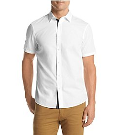 Michael Kors® Men's Tailored Fit Poplin Short Sleeve Button Down Shirt