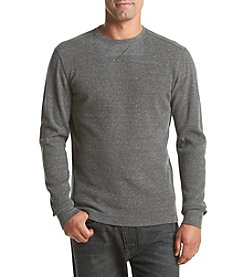 Ruff Hewn Men's Heather Thermal Long Sleeve Crew Neck Tee