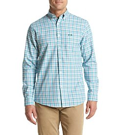 Le Tigre Men's Long Sleeve Twill Woven Button Down Shirt