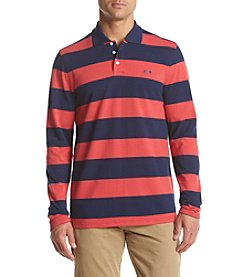Le Tigre Men's Long Sleeve Rugby Stripe Pique Polo