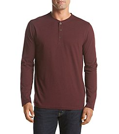 John Bartlett Consensus Men's Long Sleeve Solid Oxford Henley