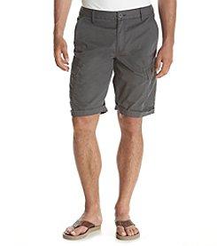 Ruff Hewn Men's Solid Twill Cargo Shorts
