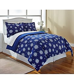 LivingQuarters Nordic Snowfall Mico Cozy Comforter