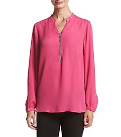 Relativity® Zip-Neck Top