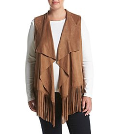 Chelsea & Theodore® Plus Size Fringe Detailed Vest