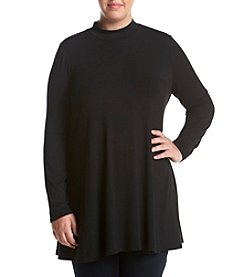 Chelsea & Theodore® Plus Size Mockneck Swing Top