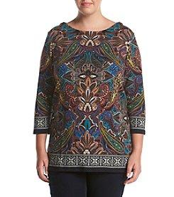 Rafaella® Plus Size Paisley Print Top