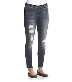 Earl Jean® Rip And Repair Destructed Skinny Jeans