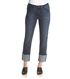 Earl Jean® Wide Roll Cuff Hem Skinny Jeans