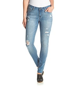Earl Jean® Boyfriend Roll-Cuff Destructed Jeans