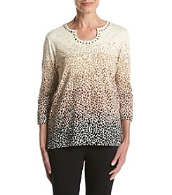 Alfred Dunner® Ombre Biadere Knit Tee