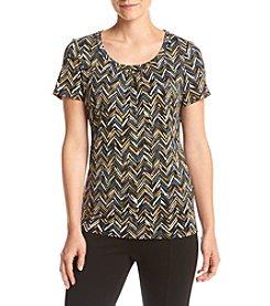 Studio Works® Short Sleeve Printed Knit Tee