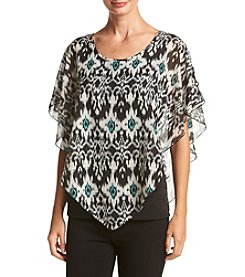 Notations® Layered Look Poncho Top