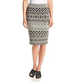Vince Camuto® Boho Knit Jacquard Skirt