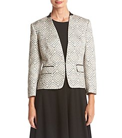 Nine West® Diamond Print Open Jacket