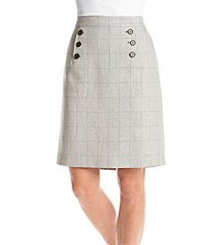 Nine West® Button Front Skirt