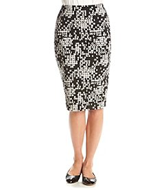 Vince Camuto® Dotted Cityscape Midi Skirt