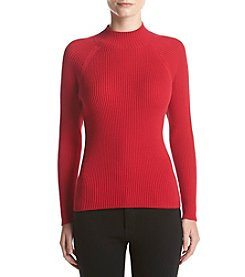 Studio Works® Ribbed Mock Neck Pull Over Sweater